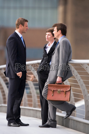 business, people, talking, outdoors - 18353700