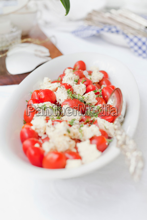 plate of tomatoes and cheese