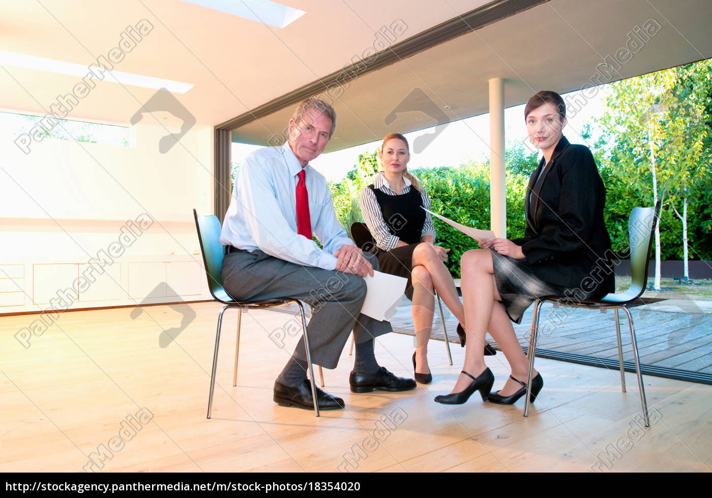 three, business, people, in, light, office - 18354020
