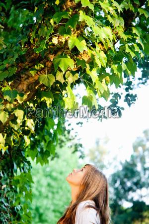 teen in nature
