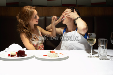 two women in a restaurant