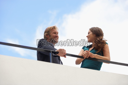 young businessman and business woman