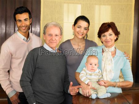 portrait of multigenerational family