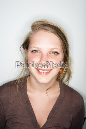 young female smiling looking at camera