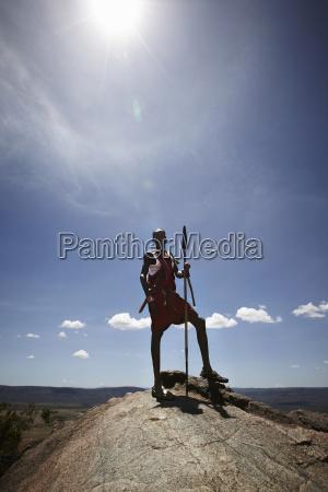 maasai man standing on top of