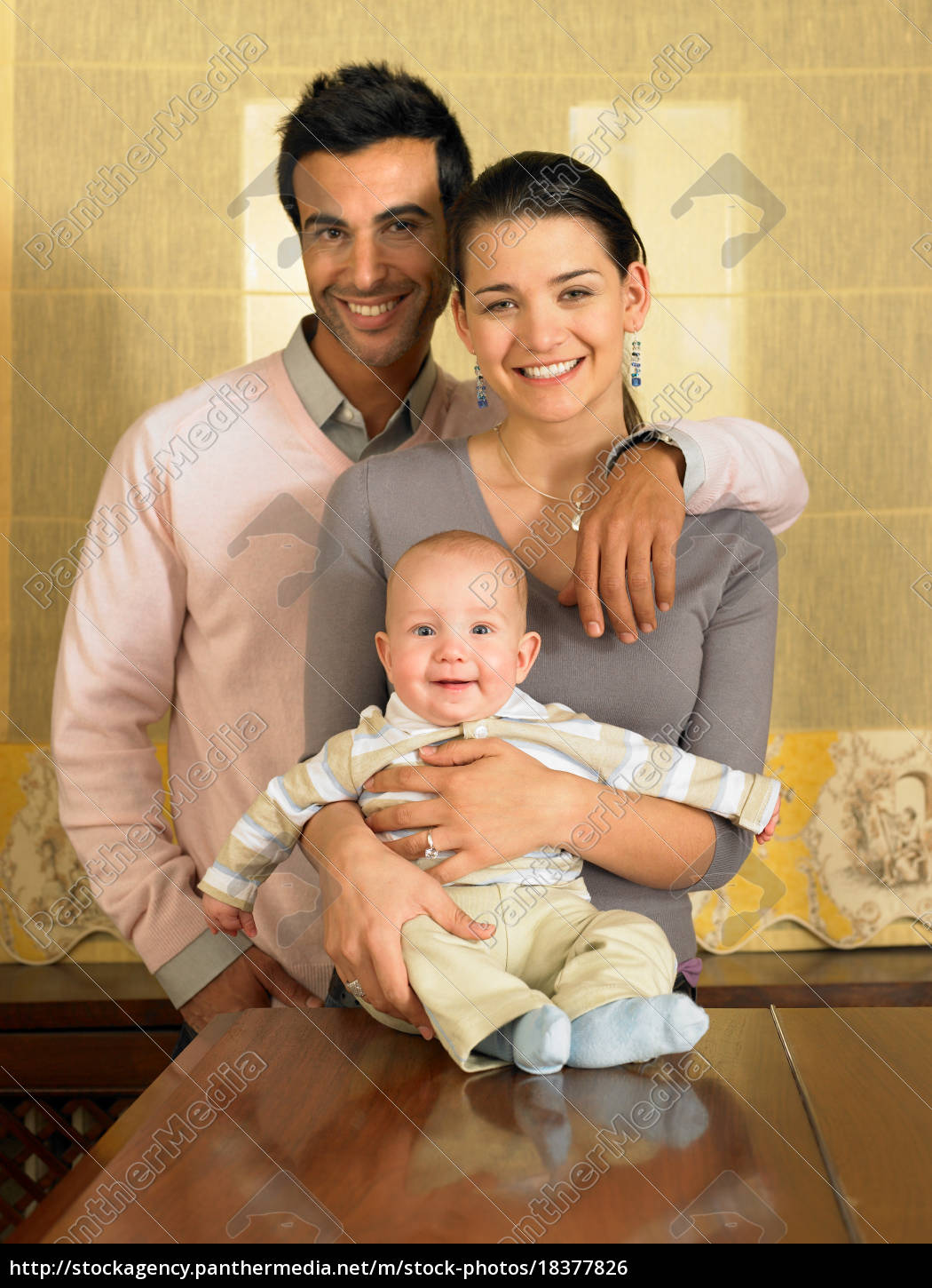 young, couple, and, baby, son, smiling - 18377826