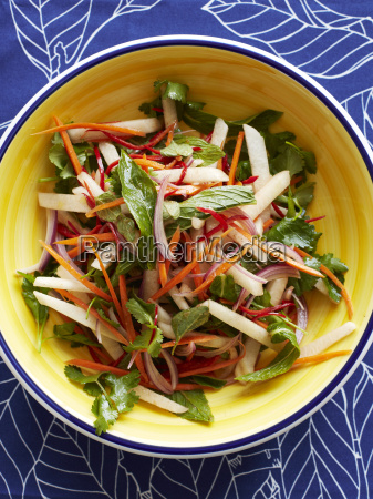 still life with bowl of jicama