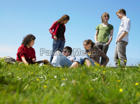 group, of, young, people, relaxing - 18379164