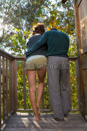 couple standing outside
