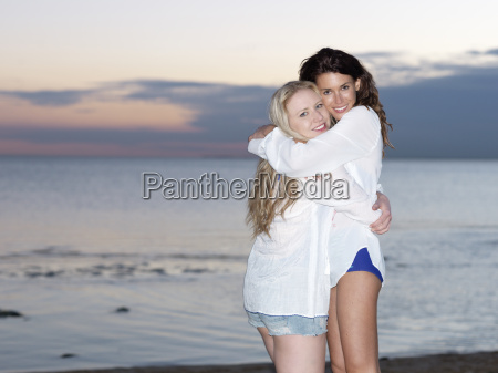 portrait of two young women friends