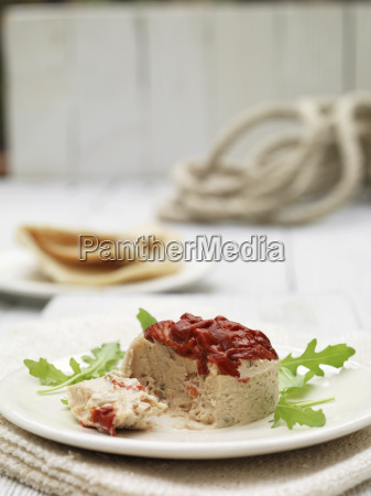 plate of tuna terrine and roasted