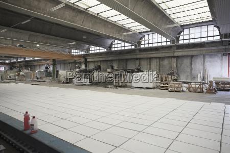 marmorplatten in der fabrik