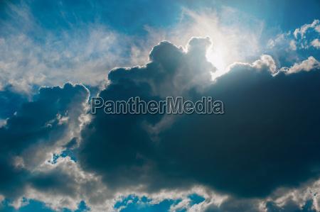 himmels wolken und sonne