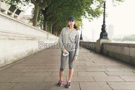 full length portrait of female runner