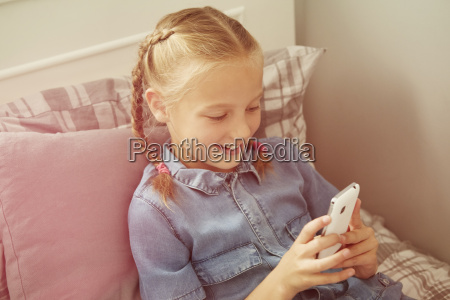 high angle view of girl sitting
