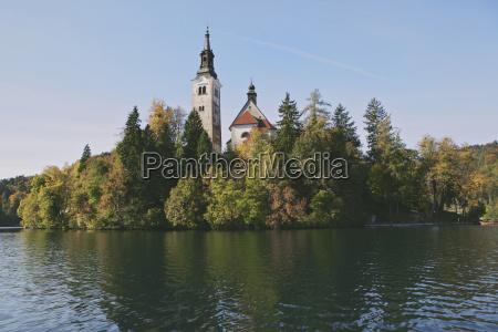 church on bled island lake bled