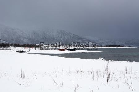 fahrt reisen winter norwegen gefroren eingefroren