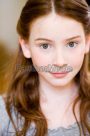 portrait redheaded girl