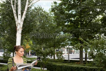 business woman on lunch break
