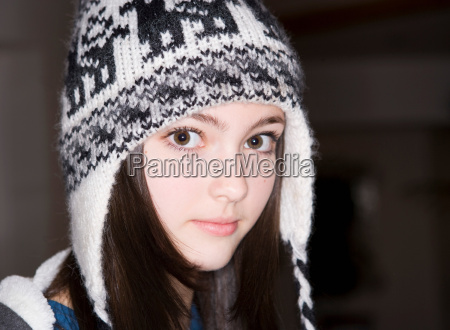 girl 14 wearing hat