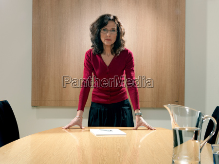 business woman in meeting room