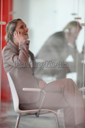 a businesswoman with cell phone