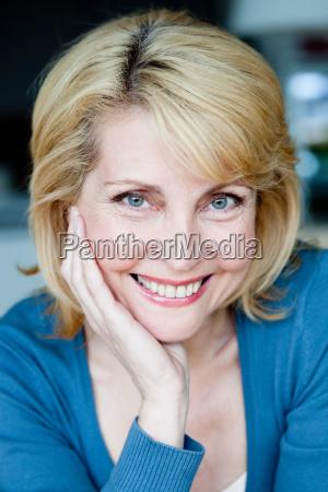senior woman smiling to camera