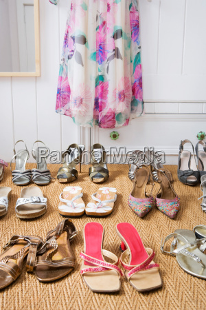 pairs of ladies shoes