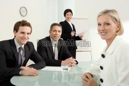 a group business portrait