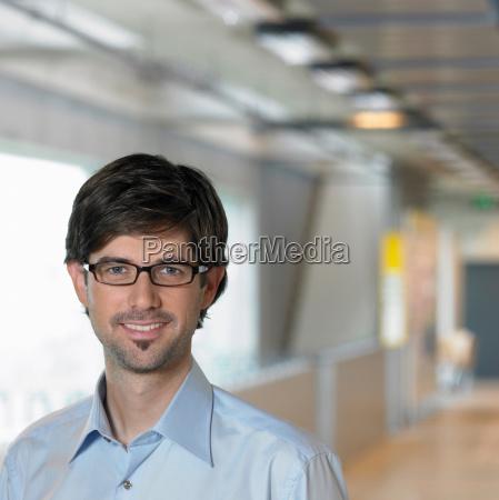 portrait of young businessman close up