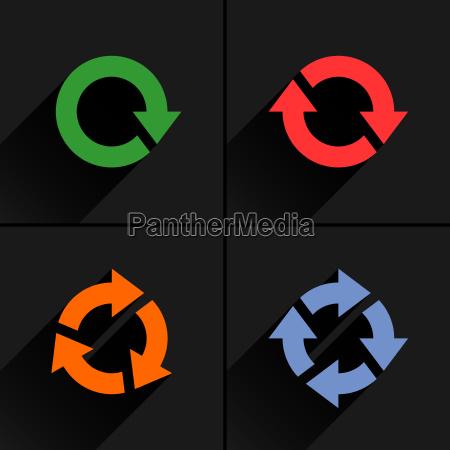 farbe pfeilschleife auffrischen nachladen rotationssymbol