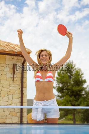 woman in a bikini with a