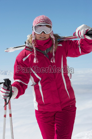 skier walking outdoors