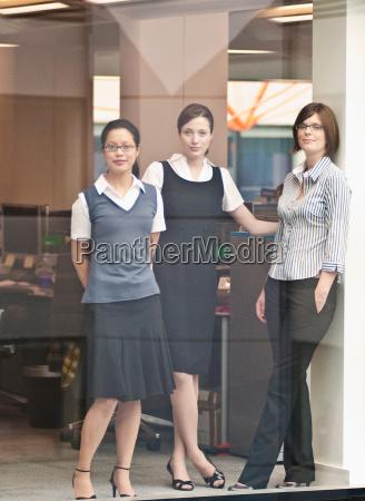 three women in office