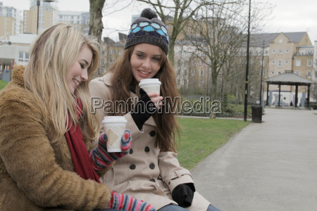 2 young women with take up