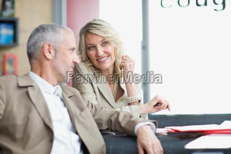 business, people, talking, in, lobby, area - 18459632