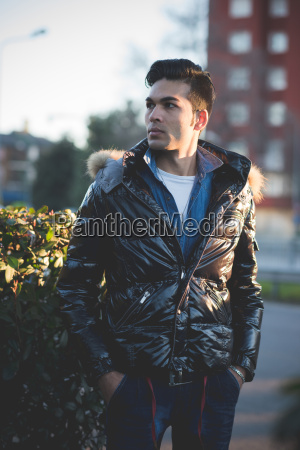 young man wearing jacket