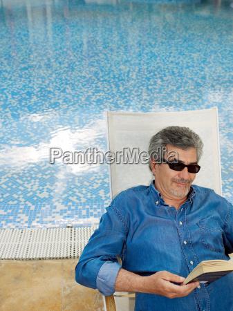 senior adult man wearing sunglasses