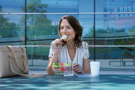 businesswoman on table