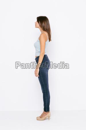 frau profil feminin weiblich seitenansicht weibchen