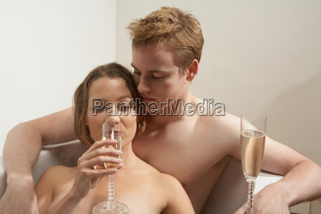 man and woman drinking in the