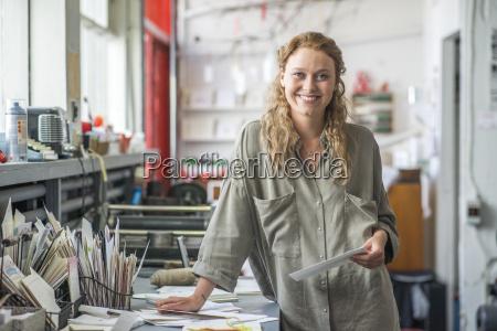 portrait of female print designer in