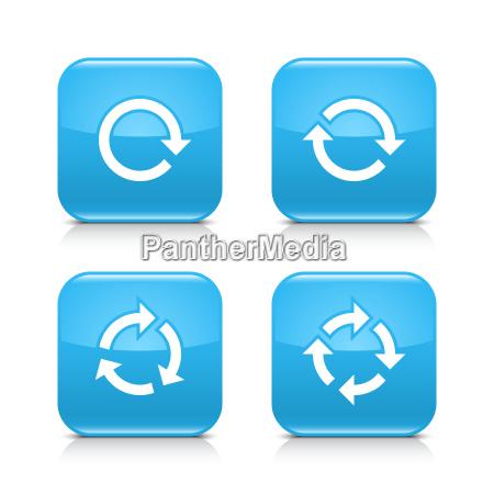 blauer, pfeil, refresh, reload, rotation, wiederholungszeichen - 18510740