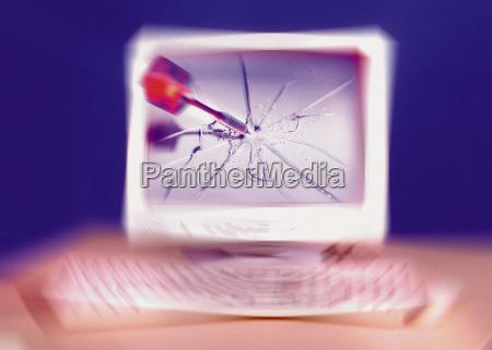 dart in a computer screen
