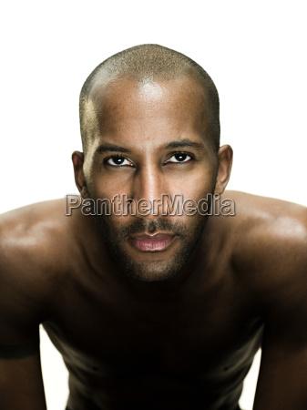 man looking at camera