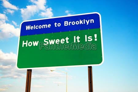 willkommen bei brooklyn zeichen