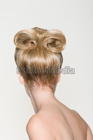 rear view of a woman with