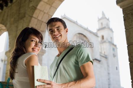 tourist couple