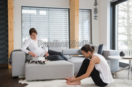 women relaxing at home
