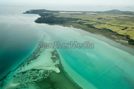 aerial view of north island